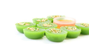 Side of green multiple scented sesame Stock Image