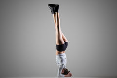 Side Headstand yoga pose Royalty Free Stock Photography