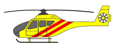 Ambulance helicopter vector illustration