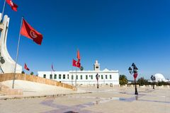 Side of Kasbah Square in Tunis, Tunisia royalty free stock image