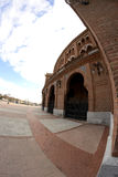 Side of Las Ventas square through a fisheye lens, Madrid Stock Images