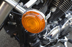 Side light of a classic motorcycle Stock Photo