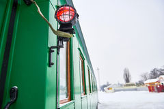 Side light on locomotive railway carriage Stock Images