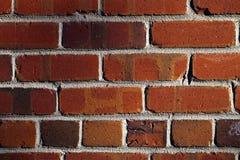 Red Brick Wall and Mortor Texture Closeup Stock Photo