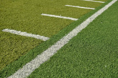 Side Line of a Football Field Stock Photography