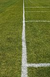Side line of a football field Stock Image