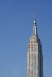 Side lit Empire State Building, dark shadows Royalty Free Stock Image