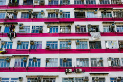 Striped Apartments of Pink and White Stock Images