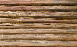 The side of a log building Stock Photography