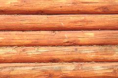 Side of a log house Stock Image
