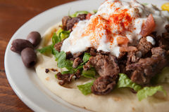 Side look at Gyro plate Stock Photography