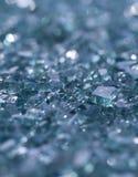 Broken Glass Focus. A side macro shot of broken glass. shallow depth of field and bokeh Stock Images