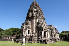Side of The main prang ,principal tower in phimai historical park Stock Image