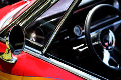 Side Mirror on Classic Sports Car Stock Photos