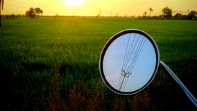 Side Mirror and Sunset Royalty Free Stock Photography