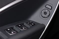 Side mirror switch control Stock Images