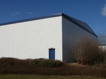 Side of modern industrial building Royalty Free Stock Photography