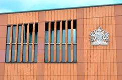 Side of modern magistrates court building Stock Photography