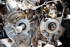 In side motorcycle engine royalty free stock image