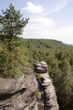 Side of mountain of rocks. stock photos