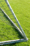 Side-netting. Close-up of a goal on grass Stock Photos
