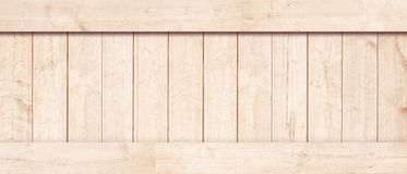 Side of new brown wooden crate, box, planks, floor or frame for text or message.  Stock Image