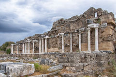 Side Nymphaeum Fountain Ruins 05 Royalty Free Stock Photography