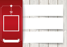 Side Oblong Banner Christmas Sale Wood 3 Banners Royalty Free Stock Images