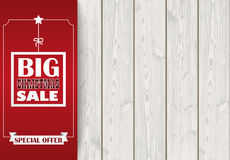 Side Oblong Banner Christmas Sale Wood Stock Photos
