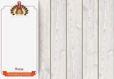 Side Oblong Banner Thanksgiving Turkey Wood Stock Image