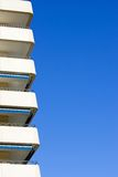 Side Of Modern, Sunny Apartment Block In Spain Royalty Free Stock Photos
