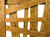 Side Of Wooden Cage Royalty Free Stock Image