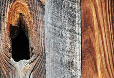 Side of an Old Barn. A detail of the side of an old wood barn Stock Photography