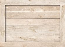 Side of old brown wooden crate, box, planks or frame for text or message.  Royalty Free Stock Image