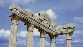 Side. Old ruins in Side, Turkey - archaeology stock footage