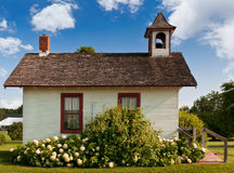 Side of One-Room Schoolhouse. Historic one-room schoolhouse on summer day Royalty Free Stock Images