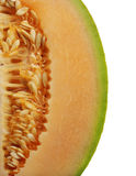 Side Of An Orange Honeydew Melon Stock Image