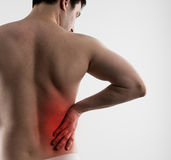 Side pain royalty free stock images