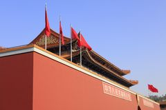 Side photo of tiananmen gate of tongan film and television photography base, adobe rgb royalty free stock image