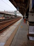 Side platform,Chiayi Station, In Taiwan. stock image