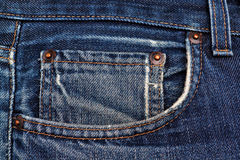 Side pocket classic jeans. Stock Photo
