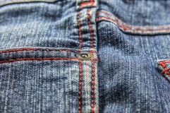 Side pockets of jeans Stock Photos