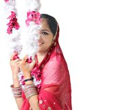 Side pose of a beautiful Indian girl Royalty Free Stock Photo