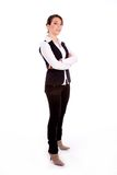 Side pose of standing busineswoman Stock Photos