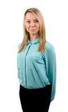 Side profile of blonde female model Royalty Free Stock Photo