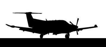Side profile of a Pilatus-PC12 single prop aircraft Stock Image