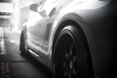 Side profile sports car Stock Images