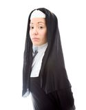 Side profile of a young nun Royalty Free Stock Photography