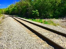 Side Of The Railroad. The side of a railroad track Stock Photo
