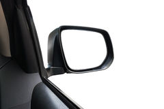Side rear-view mirror on a car with white background Royalty Free Stock Photography